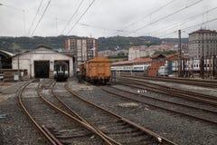 Leere Eisenbahnlinien Lizenzfreie Stockfotos