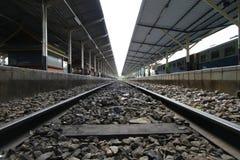 Leere Eisenbahnlinien Stockfoto