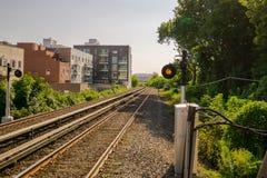 Leere Eisenbahnlinien Lizenzfreies Stockfoto