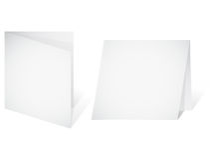 Leere Fahne - ein unbelegtes Papierblatt Lizenzfreie Stockfotografie