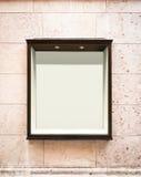 Leere Fensterbildschirmanzeige Stockbild