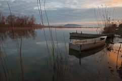 Leere Fischerboote Lizenzfreies Stockbild