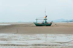 Leere Fischerboote Stockbild