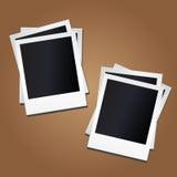 Leere Fotorahmen auf Hintergrund Stockfotos