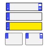 Leere französische Lizenz-Platten Lizenzfreie Stockbilder