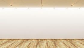 Leere Galerie Stockfoto