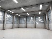 Leere Garage des offenen Raumes lizenzfreie stockfotografie