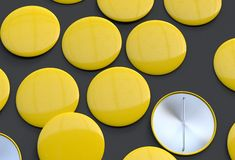 Leere gelbe Ausweise Stockbilder