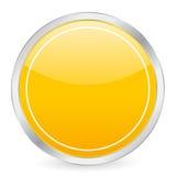 Leere gelbe Kreisikone Stockbild