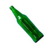 Leere grüne Bierflasche Stockfoto