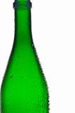 Leere grüne Glasflasche Stockbilder