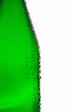 Leere grüne Glasflasche Stockfotos