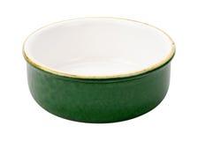 Leere grüne keramische Schüssel Lizenzfreies Stockfoto