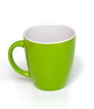 Leere grüne Schale stockbilder