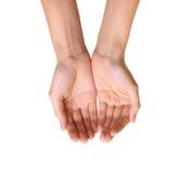 Leere Hände trennten Stockfotos