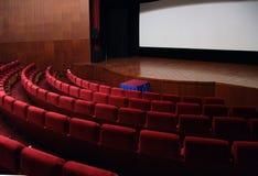 Leere Halle des Kinos lizenzfreie stockbilder