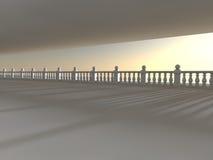 Leere helle große Wiedergabe der Halle 3D lizenzfreie stockfotografie