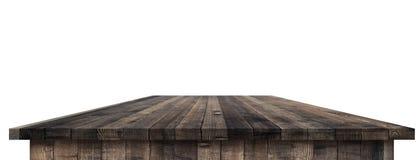 Leere Holztischperspektive mit Ausschnittsmaske Lizenzfreie Stockbilder