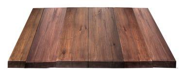 Leere Holztischspitze lizenzfreies stockfoto
