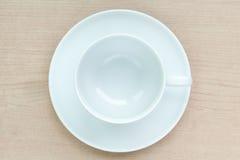 Leere Kaffeetasse Stockfoto
