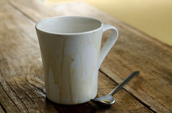 Leere Kaffeetasse Lizenzfreies Stockfoto