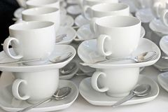 Leere Kaffeetassen Lizenzfreies Stockfoto