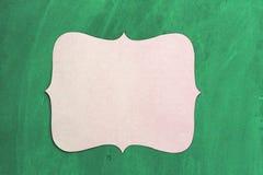 Leere Karte auf Tafel lizenzfreies stockfoto
