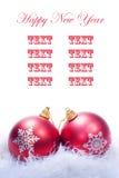 Leere Karte für Weihnachtsglückwunsch Stockbild