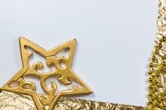 Leere Karte mit goldenem Stern Stockfotografie