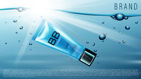 Leere kosmetische Sahneplastikrohre Stockfotos