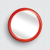 Leere Kreisfahne oder -knopf auf transparentem Hintergrund Lizenzfreies Stockfoto