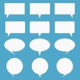 Leere leere weiße Spracheblasen Vektor Abbildung