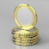 Leere Münzen Stockbild