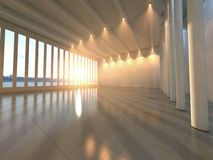 Leere moderne Halle Stockbild