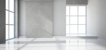 Leerer moderner Raum Stockfoto
