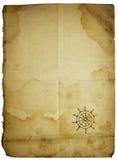 Leere Papierkarte, getrennt auf Weiß Stockfotos
