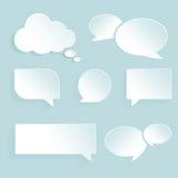 Leere Papierspracheblasen Stockfoto
