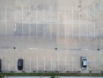 Leere Parkplätze, Vogelperspektive Stockfotografie