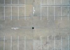 Leere Parkplätze, Vogelperspektive Lizenzfreies Stockfoto