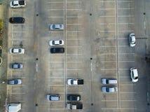 Leere Parkplätze, Vogelperspektive Lizenzfreies Stockbild