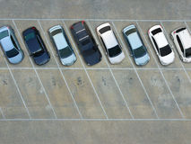 Leere Parkplätze, Vogelperspektive Lizenzfreie Stockfotografie