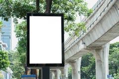 Leere Plakat-Schablone in Bangkok Stockfotografie