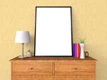 Leere Plakat-und Foto-Rahmen-Darstellung 3D Lizenzfreies Stockfoto
