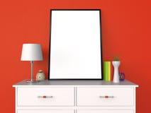 Leere Plakat-und Foto-Rahmen-Darstellung 3D Lizenzfreies Stockbild
