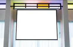 Leere Projektorwand Lizenzfreie Stockfotografie