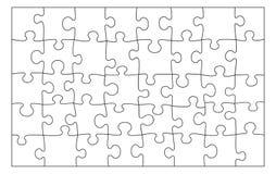 Leere Puzzlespielbeschaffenheit Schwarze Linien auf weißem Hintergrund lizenzfreie abbildung