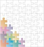 Leere Puzzlespiele Stockfoto