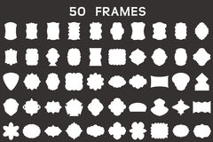 50 leere Rahmen Stockfoto