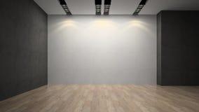 Leere Raum whith Weißwand Stockfoto