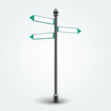 Leere Richtungspfeilzeichen für Kopienraum Lizenzfreie Stockbilder